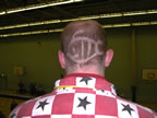 Convention Fish Logo shaved into the back of my head!