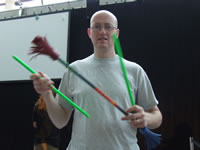 Me (Steve the Juggler) playing around with the Flowerstick