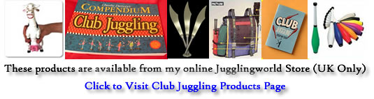 Juggling Clubs available to purchase from Jugglingworld Store (UK only) click to visit