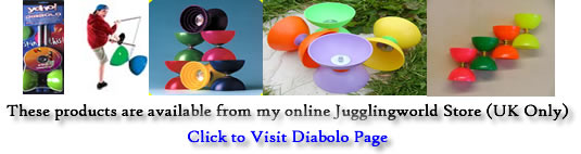 Diabolo Products available from Jugglingworls store - click here to visit (UK only)!
